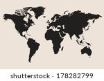 world map vector illustration | Shutterstock .eps vector #178282799
