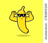 cute banana cartoon mascot... | Shutterstock .eps vector #1782855104