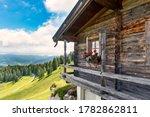 Idyllic Alpine Wooden Mountain...