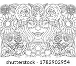 day of the dead black and white ... | Shutterstock .eps vector #1782902954