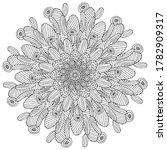 blossom flower cactus coloring... | Shutterstock .eps vector #1782909317