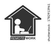 remote work icon  a stylized... | Shutterstock .eps vector #1782913961