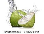 splash of water on green... | Shutterstock . vector #178291445