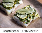 Cod fillets with coriander...