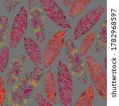 set red orange leaves fir tree  ...   Shutterstock . vector #1782968597