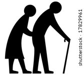 vector elderly couple | Shutterstock .eps vector #17829961