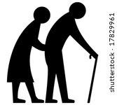 vector elderly couple | Shutterstock .eps vector #17829961