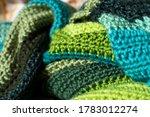 Closeup Of Crochet Afghan...