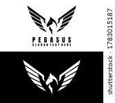 Pegasus Logo Design Icon Vector