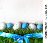 Easter Eggs On The Grass...