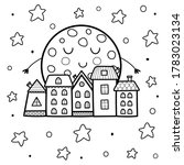 cute sleeping moon and night... | Shutterstock .eps vector #1783023134