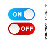 on off icon vector. switch...