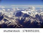 Aerial View Of High Peaks Of...