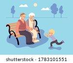 grandpa and grandma with... | Shutterstock .eps vector #1783101551