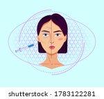 antiaging collagen injections...   Shutterstock .eps vector #1783122281