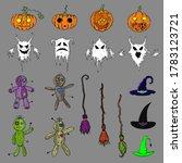 set of halloween illustrations. ... | Shutterstock .eps vector #1783123721