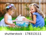 group of two little girl with a ...   Shutterstock . vector #178313111