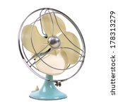 vintage fan isolated over white | Shutterstock . vector #178313279