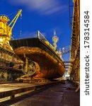 ship repair in dry dock at... | Shutterstock . vector #178314584