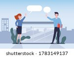 business people greeting at bus ... | Shutterstock .eps vector #1783149137
