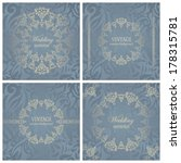 set of vintage backgrounds with ... | Shutterstock .eps vector #178315781