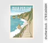 nusa penida bali beach vintage... | Shutterstock .eps vector #1783160684