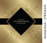 floral seamless wallpaper....   Shutterstock .eps vector #178316141