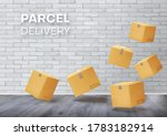 parcels  boxes floating in the...   Shutterstock .eps vector #1783182914