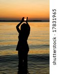 silhouette of woman in the... | Shutterstock . vector #17831965