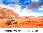 jordanian desert in wadi rum ...   Shutterstock . vector #178319885