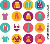 store clothing icons  ...