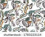 Seamless Flower Petals Pattern...