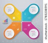 4 steps simple editable process ... | Shutterstock .eps vector #1783238591