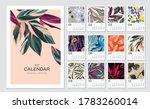 2021 calendar template.... | Shutterstock .eps vector #1783260014