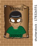 posters of a wanted bandit | Shutterstock .eps vector #178326551