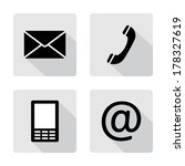 contact icons buttons set  ... | Shutterstock .eps vector #178327619