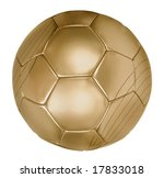 close up of a gold football on... | Shutterstock . vector #17833018