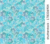 seamless hand drawn pattern.... | Shutterstock .eps vector #178336904