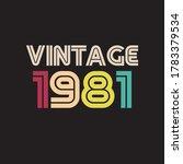 1981 Vintage Retro T Shirt...