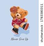 Cute Bear Toy In Basketball...
