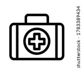 first aid kit outline icon on...