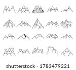 simple vector mountains icons... | Shutterstock .eps vector #1783479221
