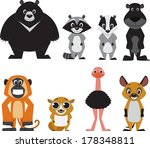 cute colorful exotic animals... | Shutterstock .eps vector #178348811
