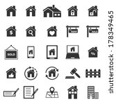 real estate icons on white... | Shutterstock .eps vector #178349465