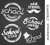 school vector stamp and label | Shutterstock .eps vector #178349975