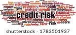 credit risk word cloud concept. ... | Shutterstock .eps vector #1783501937