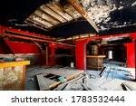 Abandoned Interior Of The Bar...