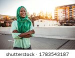 Cheerful Young Woman Standing...