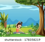 illustration of a young girl... | Shutterstock .eps vector #178358219