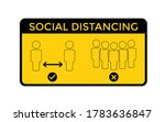 social distancing. keep the 1 2 ... | Shutterstock .eps vector #1783636847